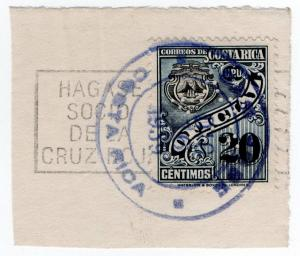 (I.B) Costa Rica Postal : Official 20c (Star perfin)