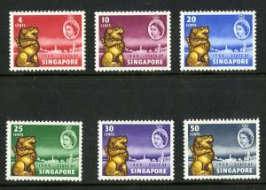 SINGAPORE 43-48 MNH SCV $13.60 BIN $7.00 ROYALTY