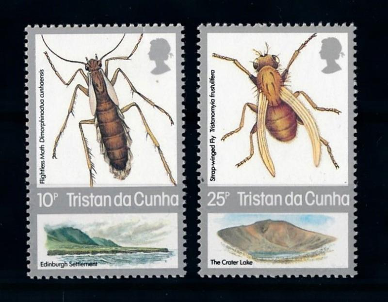 [70688] Tristan da Cunha 1987 Insects Moth Fly From set MNH