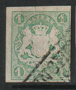 (PO1) BAYERN / 1867, 1 Kr Mi#14c - 65 Euro, Used