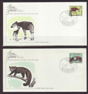 East Germany,DDR 2113-2118 Animal 1980 Fleetwood S/6 U/A FDC