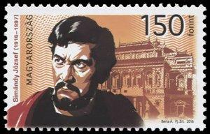 Hungary. 2016. Centenary of Birth of József Simándy (MNH OG) Stamp