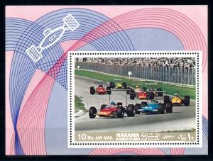 [94341] Manama Ajman 1969 Motorsport Motorracing Sheet MNH