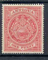 Antigua Sc 32 1908 1d carmine Seal of Colony stamp mint