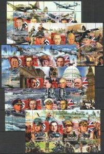 KS 2011-12 IVORY COAST HITLER WORLD WAR II LEADERS WWII SWASTIKA !!! 6KB MNH