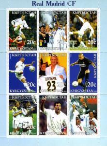Kyrgyzstan 2003 Real Madrid Football Club (9) Perforated mnh.vf