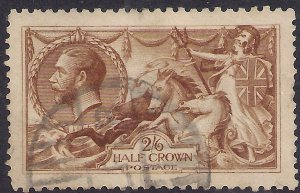 GB 1915 KGV 2/-6d Yellow Brown Seahorse DLR used SG 405 ( K1385 )
