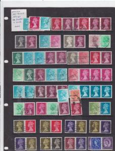 great britain setenant stamps machins  ref 10369