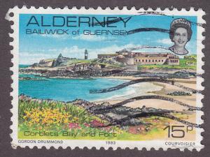 Alderney 9  Corblets Bay And Fort 1983