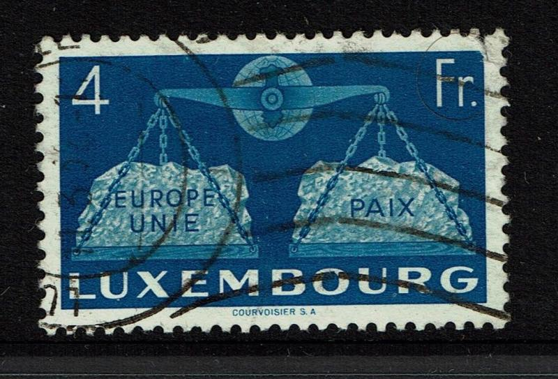 Luxembourg SC# 277, Used, small upper right tear - S4028