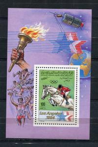Libya  1984 Los Angeles Olympic Games Mini Sheet MNH 5723