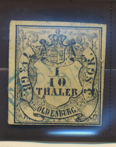 Oldenburg Stamp Scott #3, Used - Free U.S. Shipping, Free Worldwide Shipping ...