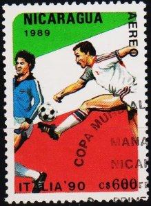 Nicaragua. 1989 600cor S.G.3030  Fine Used