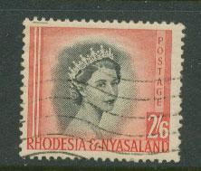 Rhodesia & Nyasaland  SG 12 space filler light creases
