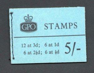 5/- GRAPHITE BOOKLET SEPTEMBER 1960 SG H46g Cat £170