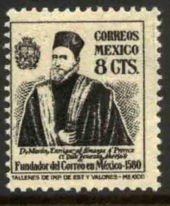 MEXICO 843 8c 1934 Definitive Wmk Gobierno...WMK 279. MINT, NH. VF.