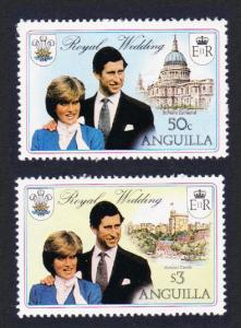 Anguilla Charles and Diana Royal Wedding 2v Watermark SG#468-469 SC#444b+46b