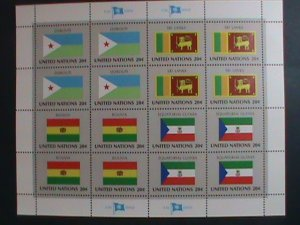 UNITED NATION-1981 SC#350-3 -FLAGS SERIES MNH FULL SHEET- VERY FINE