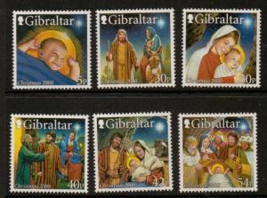 GIBRALTAR SG950/5 2000 CHRISTMAS  MNH