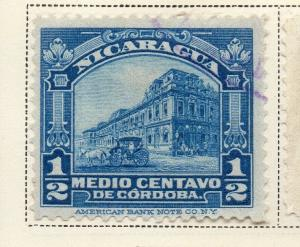 Nicaragua 1914-22 Early Issue Fine Used 1/2c. 323622