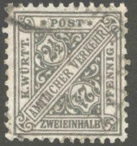 Germany State Wurttemberg Scott o120 Used official