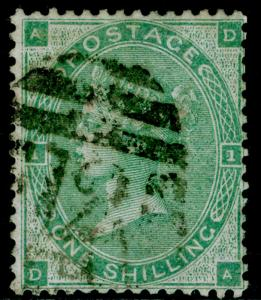 SG90, 1s green, FINE used. Cat £275. DA