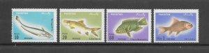 FISH - PAKISTA #348-51  (SINGLES)    MNH