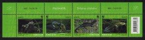 Estonia WWF Newt Protected Species 4v Strip SG#628-31