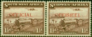 South West Africa 1938 1 1-2d Purple-Brown SG017 Very Fine MNH