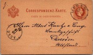Meren Norway > Dreseden Germany 1912 Norwegian postal stationery postcard