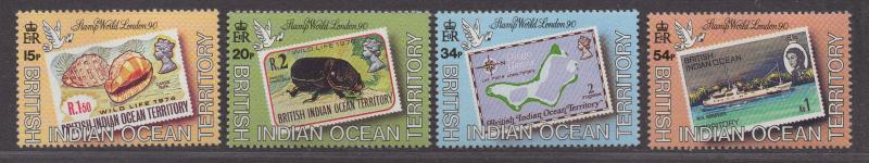 **British Indian Ocean Territory, SC# 90-93 MNH, VF Complete Set, CV $39.00
