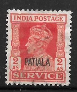 India Patiala O70: 2a George VI, used, F-VF