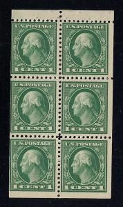 US#498e Green - Booklet Pane of 6 - Mint - O.G. - N.H.