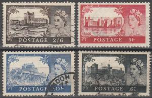 Great Britain #309-12 F-VF Used CV $52.50 (C4291)