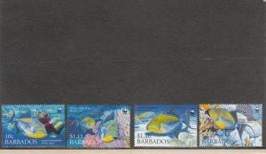 BARBADOS 1102-1105 MNH 2019 SCOTT CATALOGUE VALUE $6.50