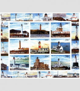 Lighthouses Sheet Imperforated Mint (NH)