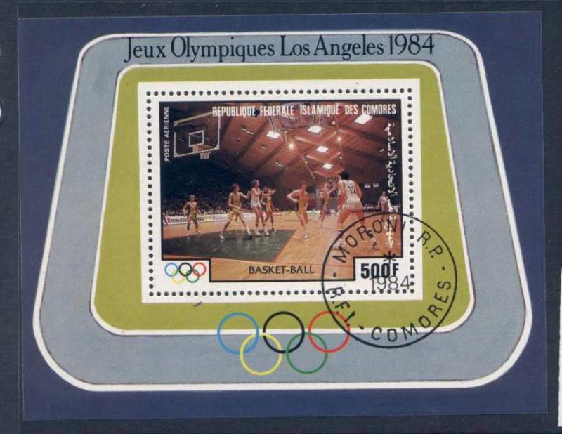 Comoro Islands C137 used (cto) Olympic Sports, Basketball