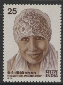 INDIA SG878 1978 MOTHER-PONDICHERRY(PHILOSOPHER) MNH