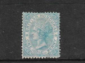 BRITISH HONDURAS  1865  1d  BLUE  QV MH  SG 2