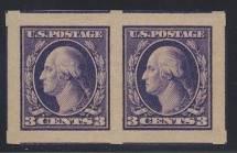 United States Postage Stamp # 484 Pair 3c Washington Gem as New Graded 100