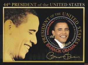St. Vincent - Bequia, Barack Obama, U.S. President, NH, 1/2 Cat.