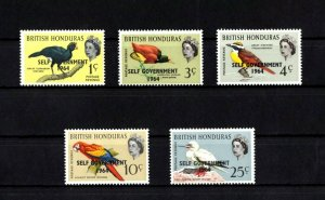BRITISH HONDURAS - 1962 - BIRDS - SELF GOVERNMENT - OVERPRINT - MINT - MNH SET!