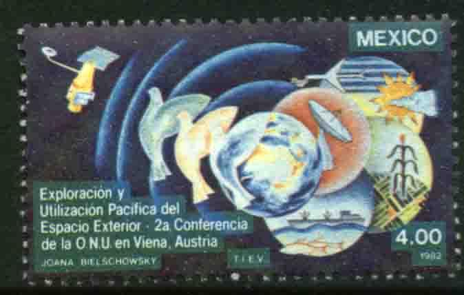 MEXICO 1284, UN Conference Peaceful uses of Outer Space. MINT, NH. F-VF.