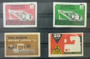 Match Box Labels ! industry machines elements science GN2
