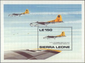 Sierra Leone  #1182-1183, Complete Set(2), S/S Only, 1990, Military Related, NH