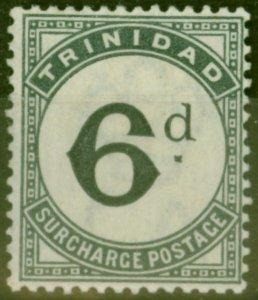 Trinidad 1885 6d Slate-Black SGD7 Fine Mtd Mint