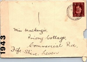 Lochcarron > Leven Fifeshire UK 1943 censored WWII cover