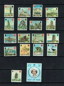Isle of Man: 1978 Landmarks & Queen's Portrait, 2nd definitive set, MNH