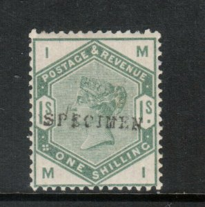 Great Britain SG #196s Mint Fine Original Gum Hinged With Specimen Overprint