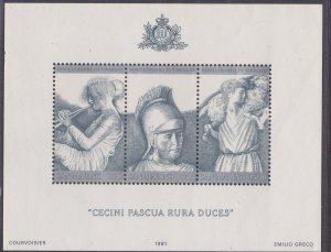 San Marino # 1005a,, Virgil - Souvenir Sheet, NH, 1/2 Cat.